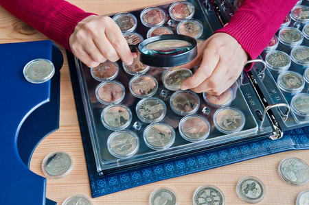 Coins for women in capsules