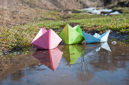 Float in the early spring puddles