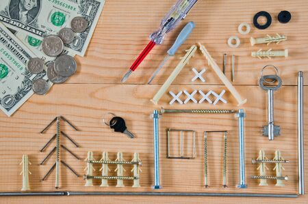 Mortgage concept for buying or building a home Stock Photo