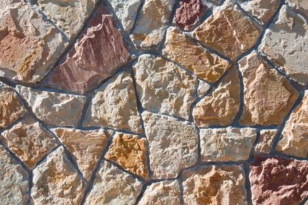 Texture of a wall of stones
