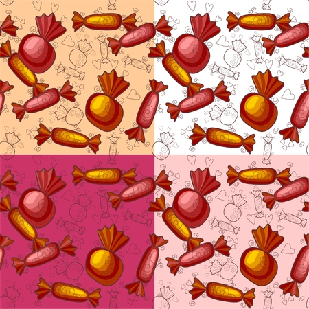 sweetmeat: Seamless pattern of sweet candy. Vector illustration. Illustration