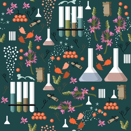 alchemy: Alchemy seamless pattern. Vector illustration. Illustration