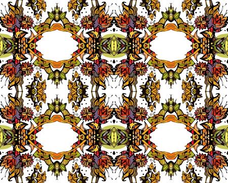 kaleidoscope: Seamless pattern of colorful kaleidoscope. Vector illustration.