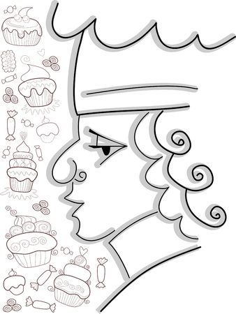 confectioner: Confectioner with sweets.