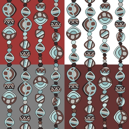 beads: Seamless pattern with beads. Vector illustration. Illustration