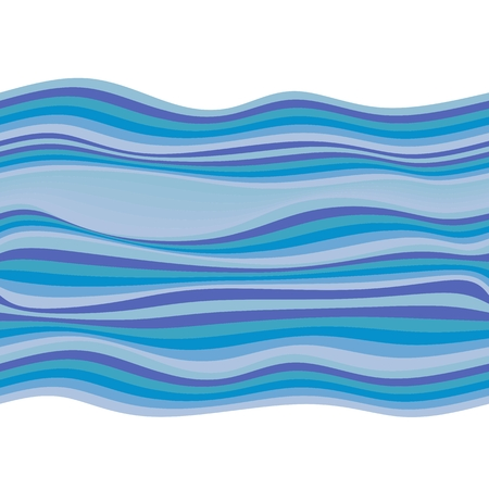 aqueous: Seamless pattern with waves in blue tones. Vector illustration. Illustration