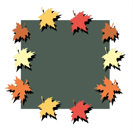 picturesque: Picturesque frame of autumn maple leaves Stock Photo