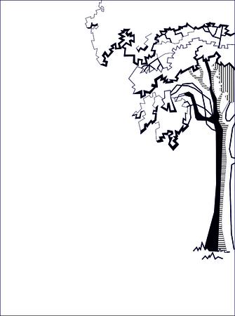 Illustration der Baum stilisierte Zeichnung