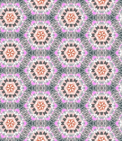 etnic: Vector ethnic seamless background. Textile print with tribal ornament.
