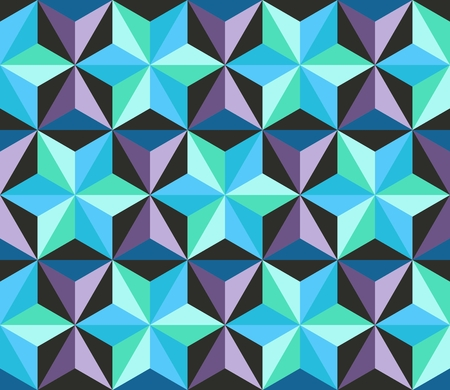 patch of light: Seamless patchwork pattern with stars. Abstract geometric background. Vector illustration.