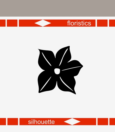 fragrant: Beautiful vector illustration of flower silhouette. Fragrant tobacco. Scented tobacco.