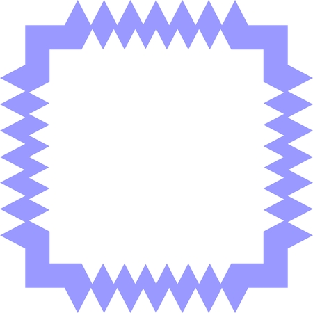 simple frame: Simple vector geometric frame on white background.