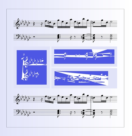 lyric: Abstract musical card. Creative design with musical notes. Vector illustration.