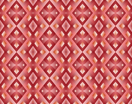 Seamless rhombus pattern in red tomes. Ilustração