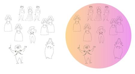 Cute cartoon illustration.