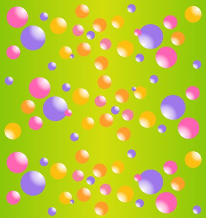 image size: Multicolored bubbles of different size. Funny print for fabric. Vector image. Illustration