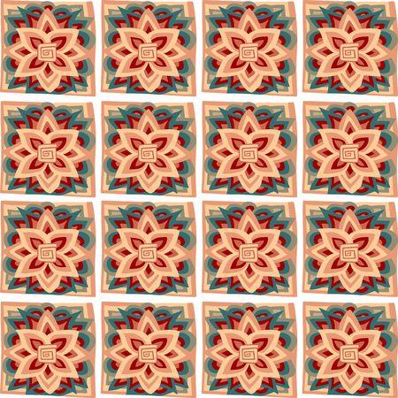 ceramic tile: Beautiful vector abstract pattern. Ceramic tile. Print for fabric. Wallpaper.