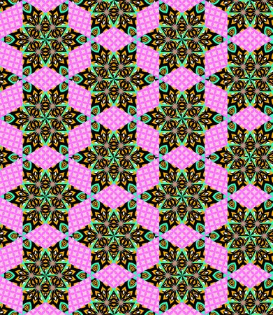patchwork: Seamless geometric patchwork pattern.