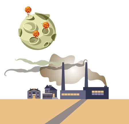 become: Environment concept. Earth should not become a desert. Vector illustration. Illustration
