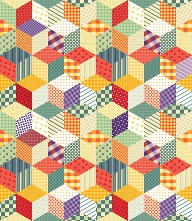 patchwork: Bright seamless patchwork pattern. Illustration