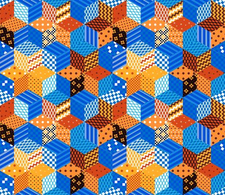 patchwork pattern: Bright seamless patchwork pattern. Vector illustration.