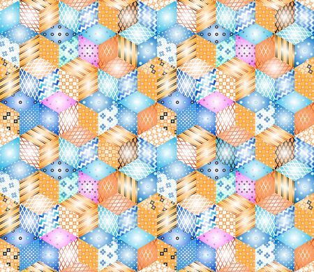 patchwork pattern: Bright seamless patchwork pattern. Illustration