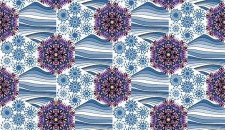 patchwork pattern: Seamless patchwork pattern. Hexagonal ornamental background. Beautiful illustration of quilt.