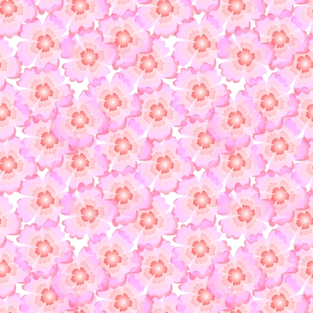 simplification: Floral seamless pattern with pink sakura flowers Stock Photo