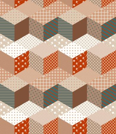 colores calidos: patr�n de mosaico sin fisuras en colores c�lidos. ornamento decorativo en zig-zag.