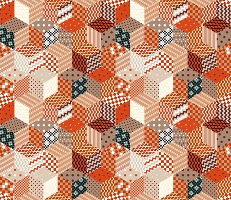 Motif ethnique sans couture de patchwork. Illustration vectorielle Style Boho.