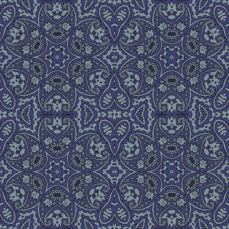 tones: Male ethnic seamless vector pattern in grey tones. Illustration