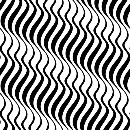 mariner: Zebra. Abstract wave striped pattern. Black and white mariner seamless vector background.