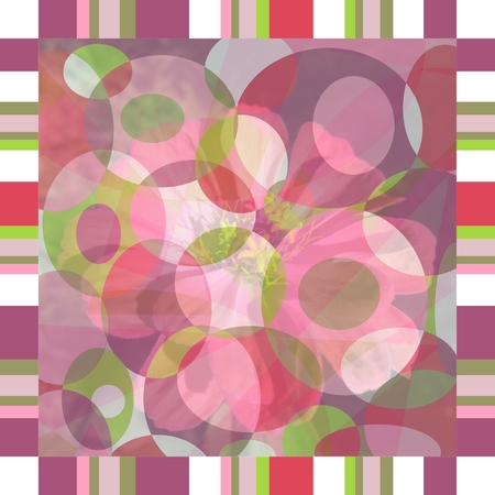 hanky: Bandana with abstract pattern and flower.