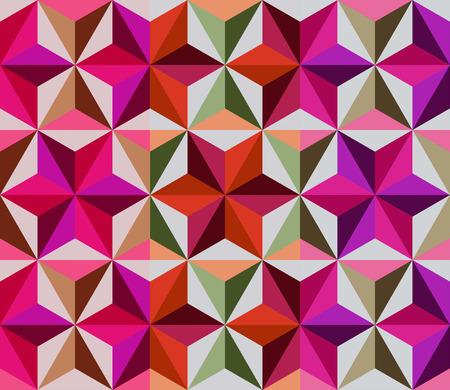 Mosaico Multicolor Con Las Flores Geométricas. De Fondo Sin Fisuras ...