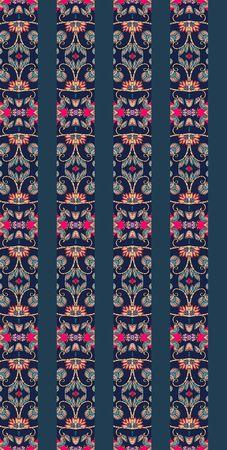 spines: Ethnic striped ornamental seamless pattern . Spines of books. Vector illustration. Wallpaper. Illustration