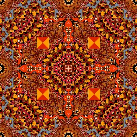 American indian tribal vector pattern. Carpet, headwear, blanket. Packaging design. Illustration