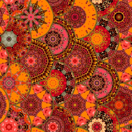 thai silk: Dragon scales seamless square pattern. Chinese, japanese, thai motives. Bright vector illustration. Beautiful carpet, tablecloth.