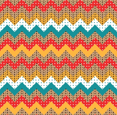 Chevron seamless pattern. Colorful zigzag patchwork. Vector illustration.