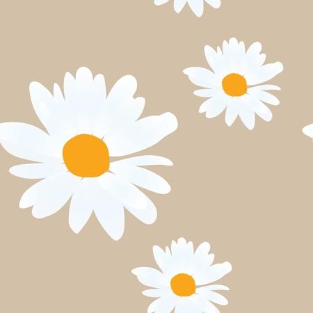 Daisy flowers on golden illustration