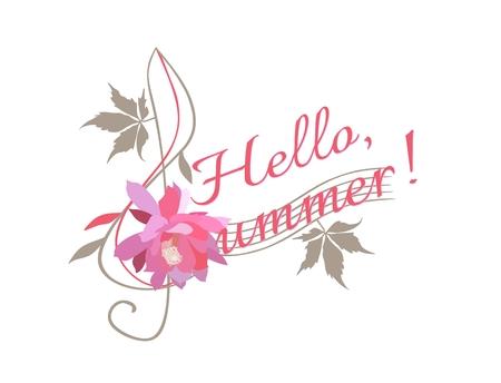 Hello, summer! Treble clef and creative letter