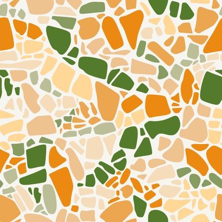 Terrazzo nahtloses Muster. Vektor abstrakter Hintergrund in lebendigen Farben.