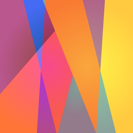 Vibrant futuristic pattern from colorful layers. Abstract geometric background design. Vector print.