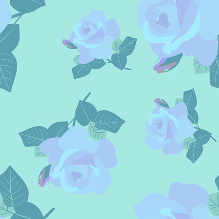 Falling delicate roses lovely seamless pattern, print for fabric.