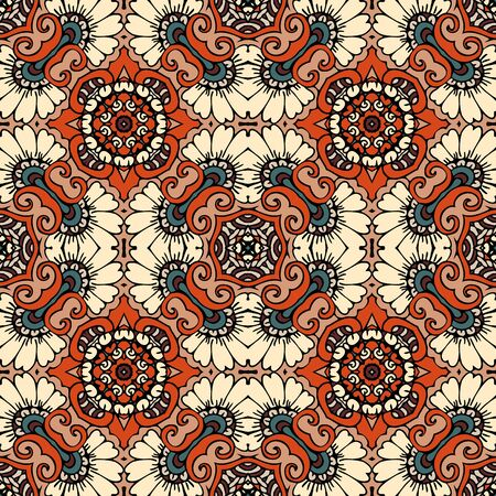 Ethnic seamless pattern with abstract ornament. Print for fabric and textile.