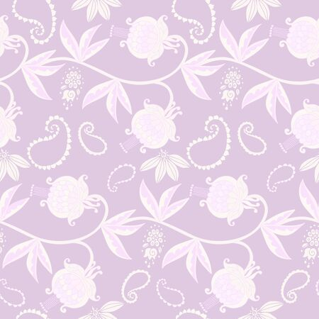 Elegant seamless pattern with tender floral ornament. Silk fabric design.