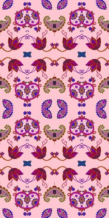 Beautiful seamless pattern with floral ornament. Elegant print for fabric.