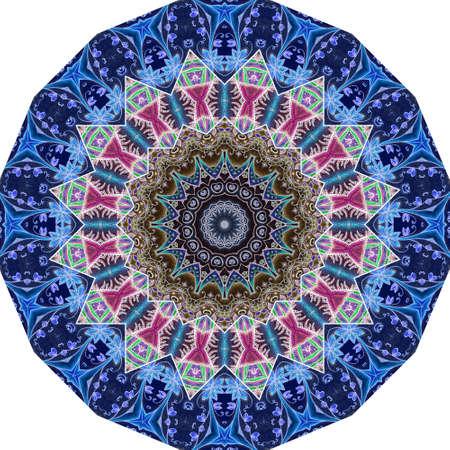 Decorative plate with ornamental pattern. Beautiful design with oriental motifs. 版權商用圖片