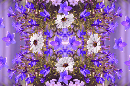 Pretty composition with summer flowers. Floral seamless design. 版權商用圖片 - 155706111