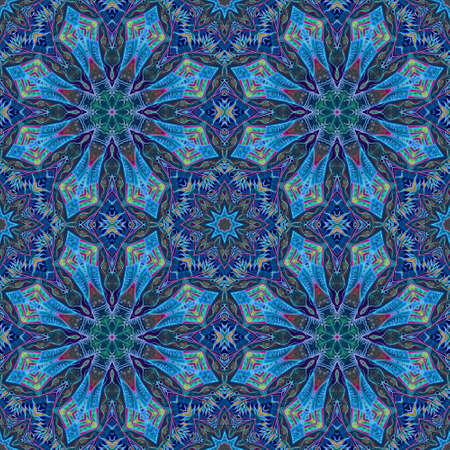 Beautiful seamless pattern with stylized snowflakes - mandalas. Christmas print, fabric, tapestry, shawl, ceramic tile, gift paper.