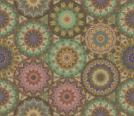 Kaleidoscope seamless pattern. Beautiful ornamental design. Print for fabric, wallpaper, wrapping design.